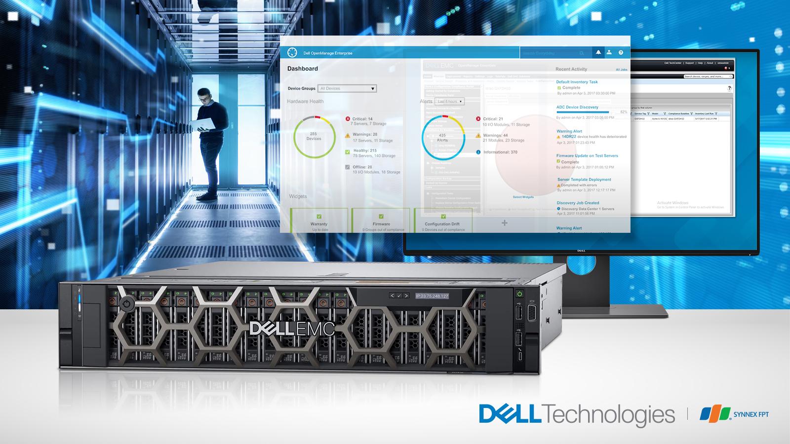 Máy chủ Dell PowerEdge R740 Silver 4210 HDD 1.2Tb Ram 16Gb